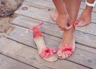 Füße nach durchgeführter Pediküre